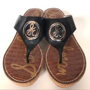 SAM EDELMAN Ruth black flip flop sandals- 7.5